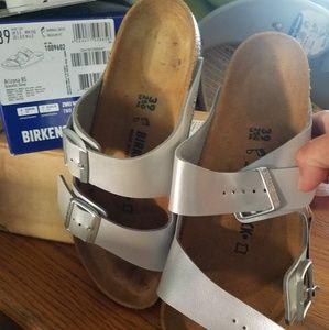 9bd8355f45a Birkenstock Shoes - Birkenstock Arizona Graceful Silver